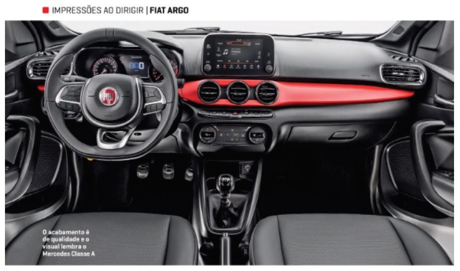 Fiat Argo Revista Quatro Rodas